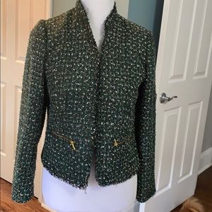 Chico's green black gold jacket